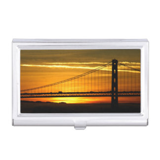 North America, USA, California, San Francisco. 3 Business Card Holder