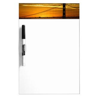 North America, USA, California, San Francisco. 3 Dry Erase Board