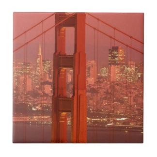 North America, USA, California, San Francisco Small Square Tile