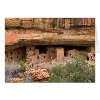 North America, USA, Colorado. Cliff dwellings Card