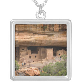 North America, USA, Colorado. Cliff dwellings Silver Plated Necklace