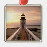 North America, USA, Massachusetts, Nantucket 4 Christmas Tree Ornaments