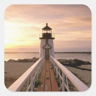 North America, USA, Massachusetts, Nantucket 4 Square Sticker