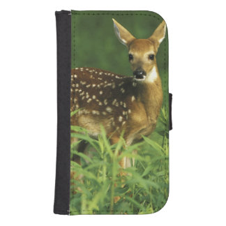 North America, USA, Minnesota. White-tailed 2 Samsung S4 Wallet Case