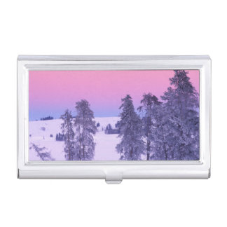 North America, USA, Montana, Yellowstone Business Card Holder