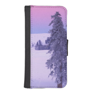 North America, USA, Montana, Yellowstone iPhone SE/5/5s Wallet Case