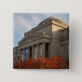 North America, USA, New York, New York City, 4 15 Cm Square Badge