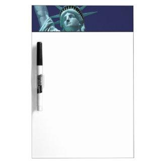 North America, USA, New York, New York City. 7 Dry Erase Board