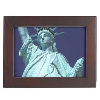 North America, USA, New York, New York City. 7 Memory Boxes
