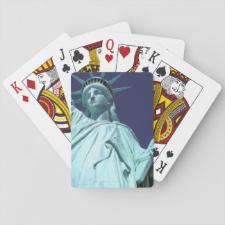 North America, USA, New York, New York City. 7 Playing Cards