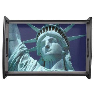North America, USA, New York, New York City. 7 Serving Tray