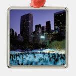 North America, USA, New York, New York City. 9 Christmas Ornaments