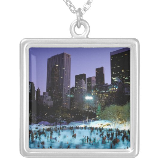 North America, USA, New York, New York City. 9 Silver Plated Necklace