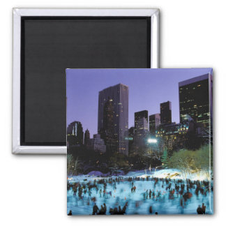 North America, USA, New York, New York City. 9 Square Magnet
