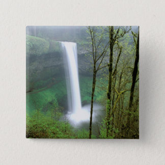 North America, USA, Oregon, Silver Falls State 15 Cm Square Badge