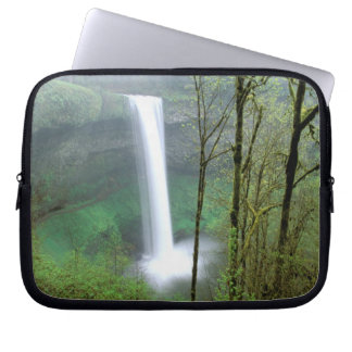 North America, USA, Oregon, Silver Falls State Laptop Computer Sleeves