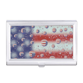 North America, USA, WA, Redmond, U.S. Flag Business Card Holder