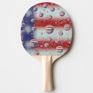 North America, USA, WA, Redmond, U.S. Flag Ping Pong Paddle
