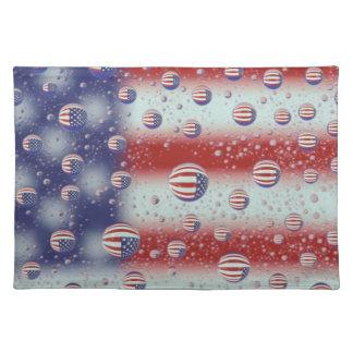 North America, USA, WA, Redmond, U.S. Flag Placemat
