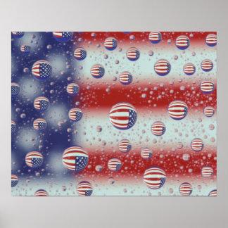 North America, USA, WA, Redmond, U.S. Flag Poster