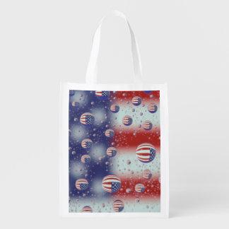 North America, USA, WA, Redmond, U.S. Flag Reusable Grocery Bag