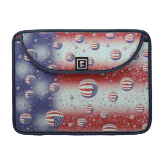 North America, USA, WA, Redmond, U.S. Flag Sleeves For MacBook Pro