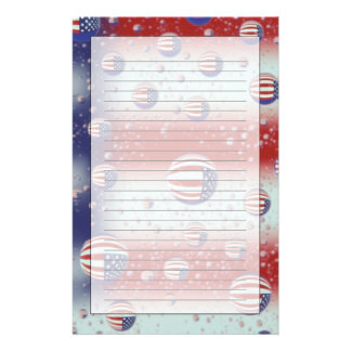 North America USA WA Redmond U S Flag Stationery