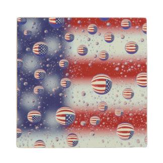 North America, USA, WA, Redmond, U.S. Flag Wood Coaster