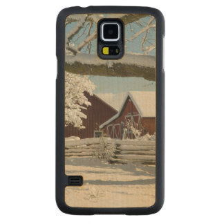 North America, USA, WA, Whidbey Island. 2 Maple Galaxy S5 Slim Case