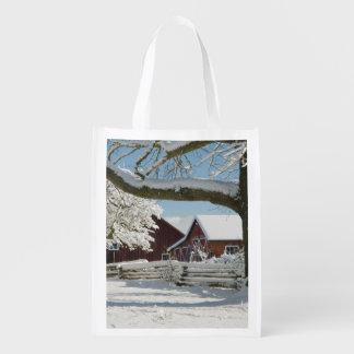North America, USA, WA, Whidbey Island. 2 Reusable Grocery Bag