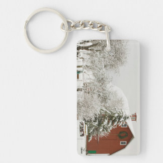 North America, USA, WA, Whidbey Island. Double-Sided Rectangular Acrylic Key Ring