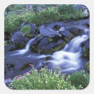 North America, USA, Washington, Mt. Rainier 3 Square Sticker