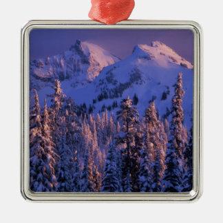 North America, USA, Washington, Mt. Rainier 4 Christmas Ornament