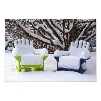 North America, USA, Washington, Seattle, Snow 3 Photo Print