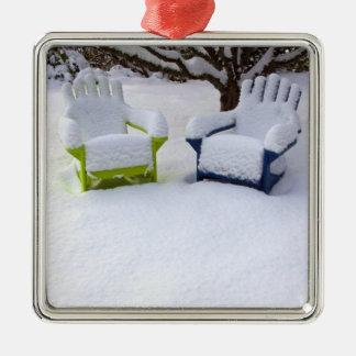 North America, USA, Washington, Seattle, Snow Christmas Ornament
