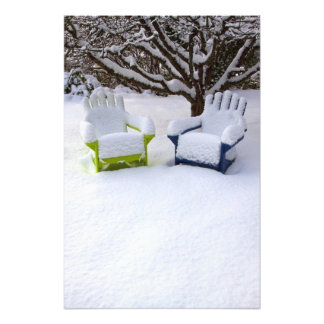 North America, USA, Washington, Seattle, Snow Photograph