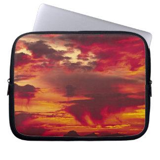 North America, USA, Washington, Seattle. Sunrise Laptop Sleeve
