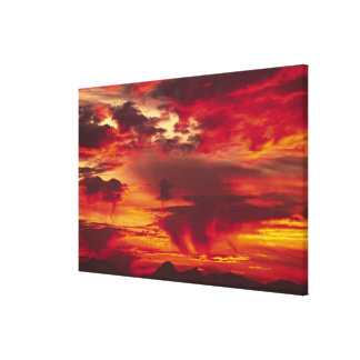 North America, USA, Washington, Seattle. Sunrise Stretched Canvas Print
