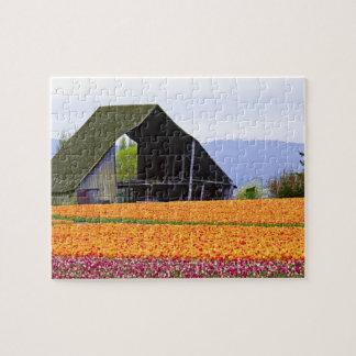 North America, USA, Washington, Skagit Valley. 2 Jigsaw Puzzle