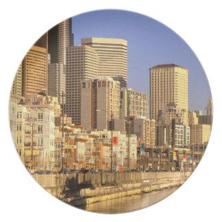 North America, USA, Washington State, Seattle. 4 Plate