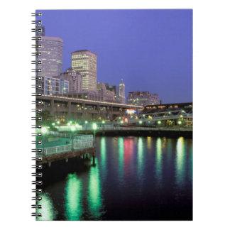 North America, USA, Washington State, Seattle. 6 Spiral Notebook
