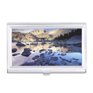 North America, USA, Wyoming, Yellowstone 3 Business Card Holder