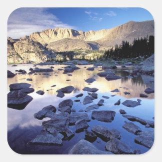 North America, USA, Wyoming, Yellowstone 3 Square Sticker