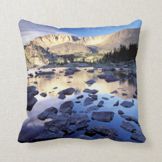 North America, USA, Wyoming, Yellowstone 3 Throw Pillow