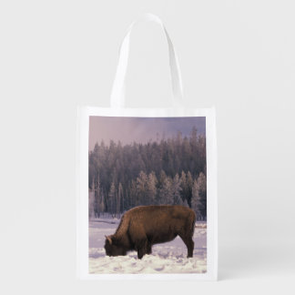 North America, USA, Wyoming, Yellowstone NP, Reusable Grocery Bag