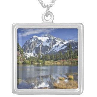 North America, Washington, Cascades. Mt. Shuksan Silver Plated Necklace