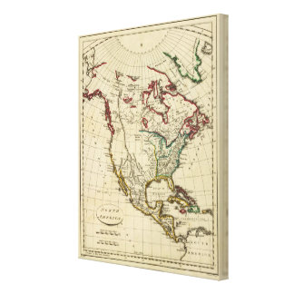 North America with boundaries outlined Canvas Print
