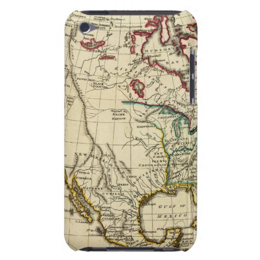 North America with boundaries outlined Barely There iPod Covers