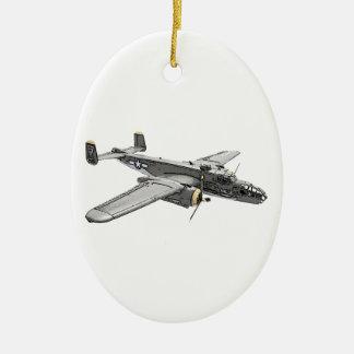 North American B-25 Mitchell bomber Christmas Ornament