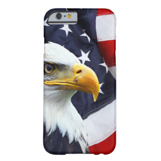 North American Bald Eagle on American flag Barely There iPhone 6 Case